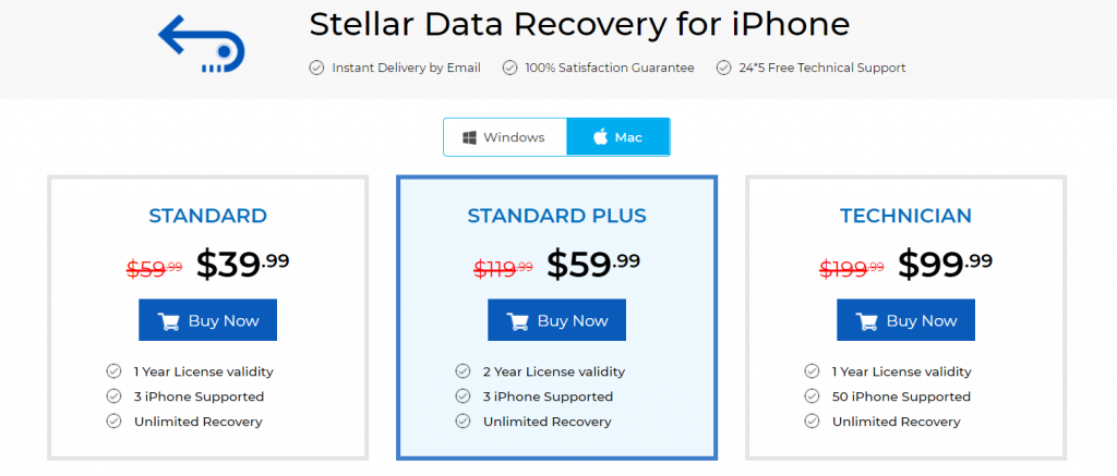 Stellar Data Recovery For iPhone - best data recovery software