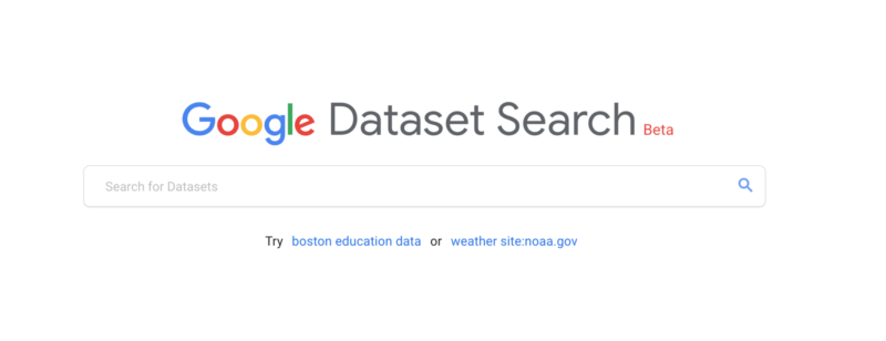 Google Dataset Search - Search Engines